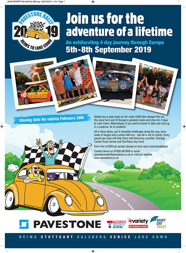 2019 Pavestone Rally