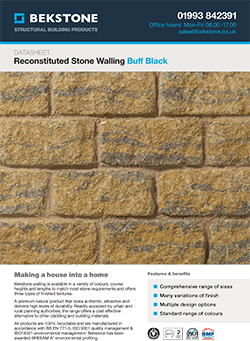 Buff Black Burford Walling Technical Data Sheet