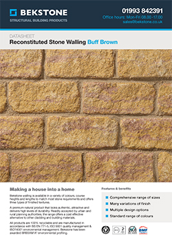 Buff Brown Burford Walling Technical Data Sheet