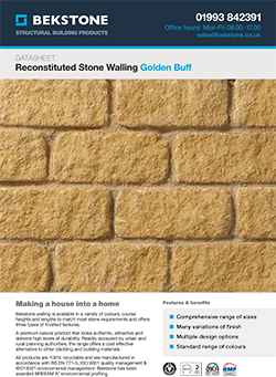 Golden Buff Burford Walling Technical Data Sheet