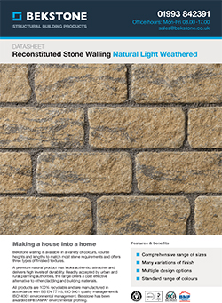 Natural Light Weathered Burford Walling Technical Data Sheet